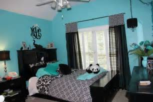 tiffany blue and black teen room home likes