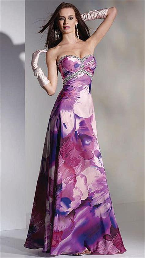 alyce paris romantic purple floral print prom dress