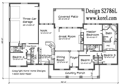 homes plans hill country ranch s2786l house plans