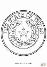 Texas Seal State Coloring Symbols Pages American Drawing Navy Printable Native Delaware Flag Seals History Indiana Sheet Nevada Patriotic Getcolorings sketch template