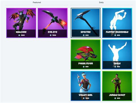 fortnite item shop  january  malcore fortnite