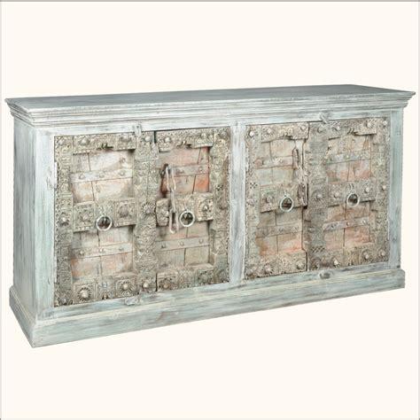 Reclaimed Old Wood Door Distressed Buffet Sideboard