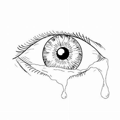 Eye Crying Sketch Drawing Occhio Disegno Tears
