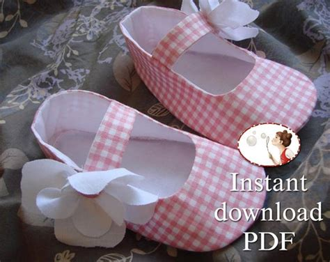 easy baby shoes sewing pattern  printable tutorial