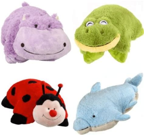 set   pillow pets pee wees stuffed animal plush  kids