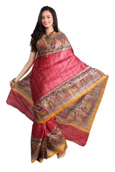 buy multicolor printed silk saree with blouse