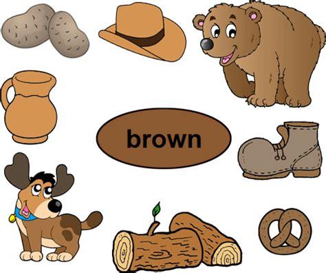 color brown worksheets  kindergarten preschool color