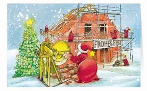 Bilder Hausbau Comic : weihnachtskarte branchenkarte hausbau bauunternehmen ger stbau frohes fest weihnachten ~ Markanthonyermac.com Haus und Dekorationen