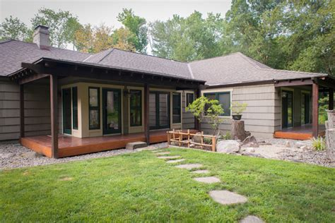 cottage style windows japanese style house exterior york by