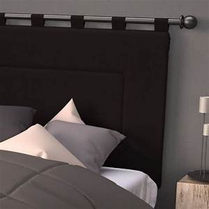 Tete De Lit Rideau : t te de lit 160 cm contemporaine noir t te de lit eminza ~ Preciouscoupons.com Idées de Décoration