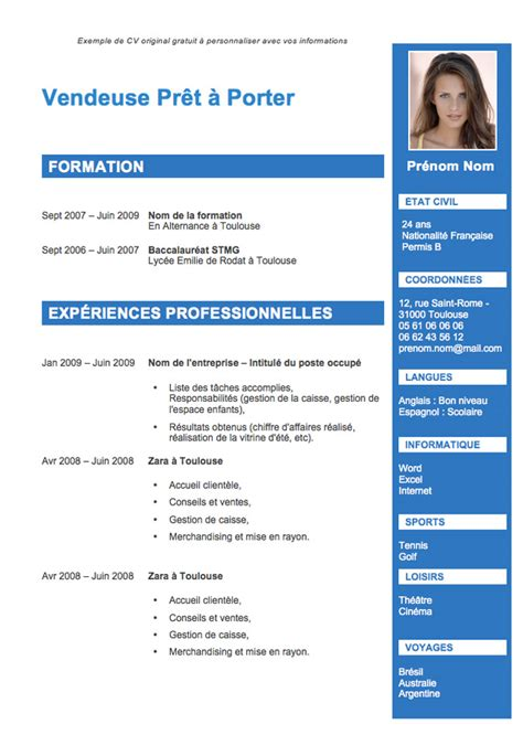 Cv Exemple Word by Exemple Cv Word Avec Photo Cv Anonyme
