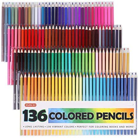 shuttle art 136 colored pencils colored pencil set for