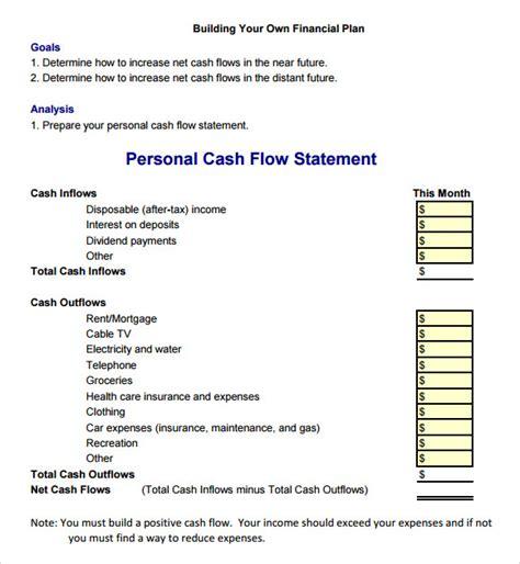 personal cash flow statement cashflow templates search results calendar 2015