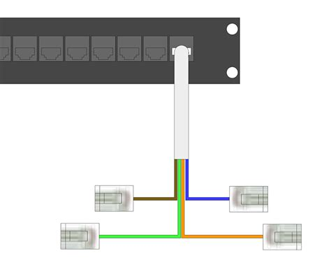 Cat 3 Wiring For Phone by How To Wire Rj45 Patch Panels For Home Phone Lines