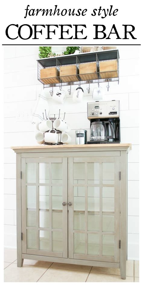 Farmhouse Style Coffee Bar Makeover  Little Red Brick House