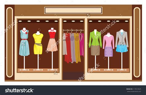 Image Clothing Store Clothing Store Clipart Pencil And In Color Clothing