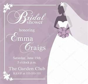 Bridal shower invitation bridal shower invitations for Wedding shower templates