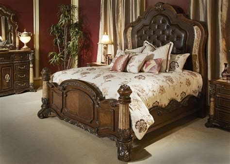 michael amini palace bedroom set w panel bed in