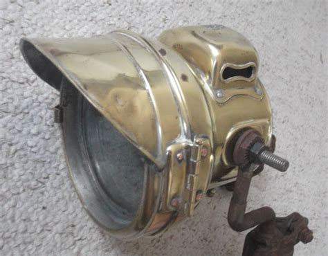 Antique Headlight For A Triumph Motorcycle