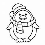 Penguin Coloring Pages Cute Print sketch template