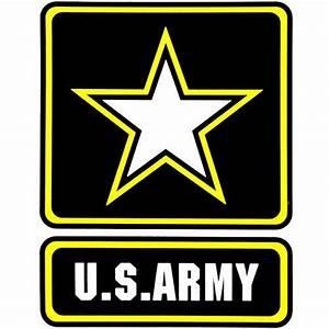 U.S. Army With Star Logo Clear Decal   ACU Army