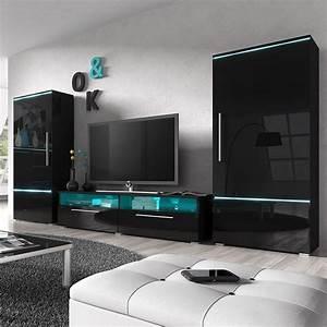 Meuble Tv Led Noir : meuble tv led pas cher ~ Teatrodelosmanantiales.com Idées de Décoration