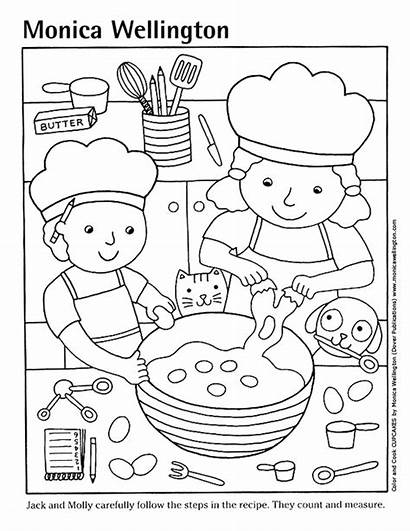 Coloring Pages Pizza Cooking Kitchen Printable Clipart