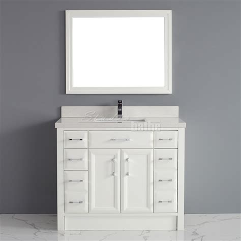 Bathroom Vanities 42 Inches Wide by Calais 42 White