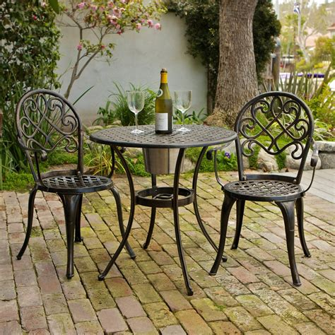 selling home decor angeles  piece outdoor bistro set