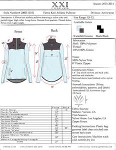 Tech Pack Samples Tracy 39 S Design Journal