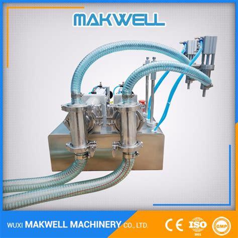 applications  food bottle  nozzles horizontal filling machine makwell