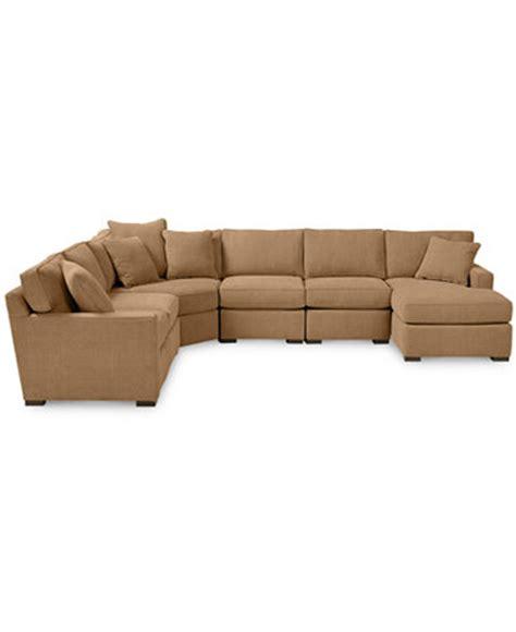 radley sectional sofa macys radley 6 fabric chaise sectional sofa custom colors