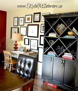 black and distressed painted furniture in a dining room With best brand of paint for kitchen cabinets with boys bedroom wall art