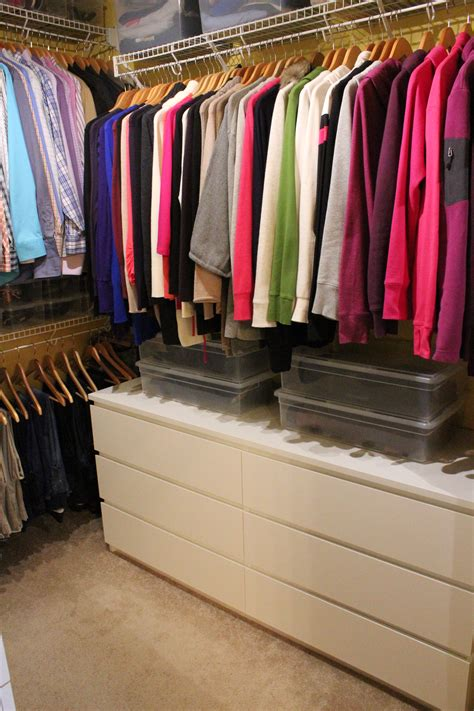 master closet after simply being abby