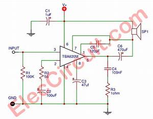 Tba820m Amplifier Circuit Stereo 2 Watts