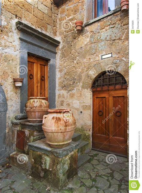 italian town corner stock photo image  typical