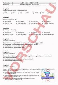 Ggt Und Kgv Berechnen : mathematik anderes thema kgv ggt arbeitsbl tter ~ Themetempest.com Abrechnung