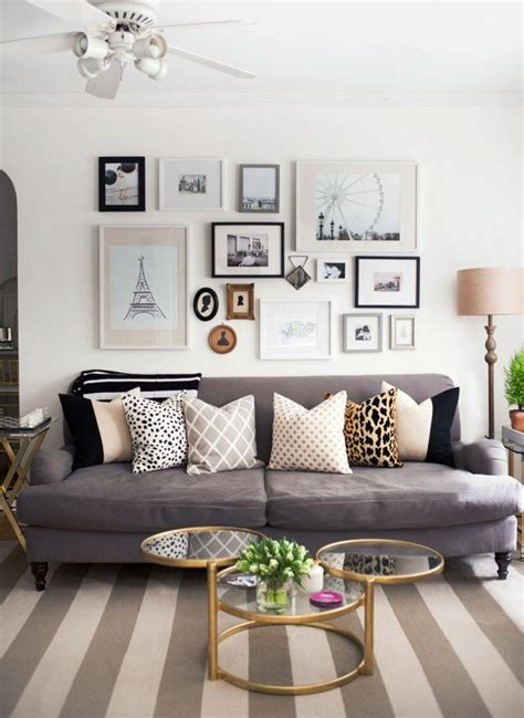 Living Room Grey Couch Picture