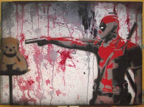 deadpool stencil  canvas  thisullysses  deviantart