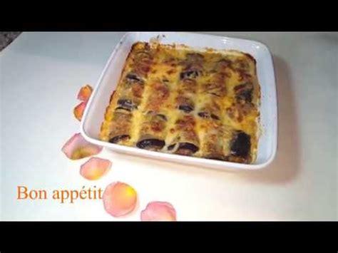bassma cuisine gratin d 39 aubergines et viande hachée trop bon كراتان
