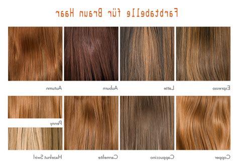 Haarfarben Brauntöne Tabelle  Kurzhaarfrisuren Bilder