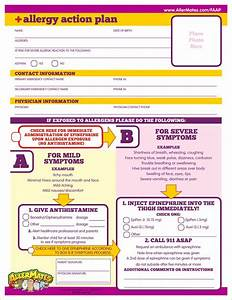 free download quotallergy action planquot food allergy With allergy action plan template
