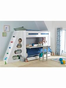 Lit Mezzanine Pour Enfant : lit mezzanine enfant pour combin volutif combibed blanc kids s ~ Teatrodelosmanantiales.com Idées de Décoration