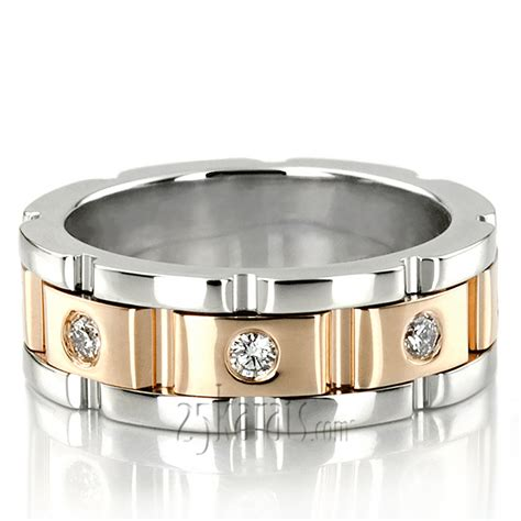 rolex wedding rings rolex style 6 5mm diamond wedding band dw100179 65 rd 14k gold