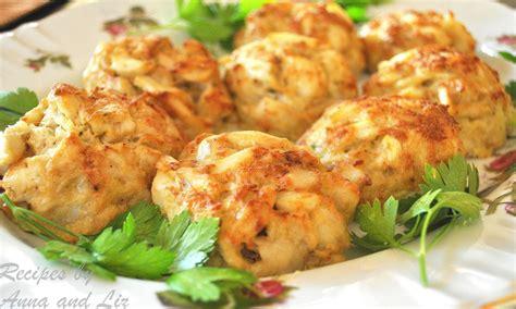 crab cakes lightened  sisters recipes  anna  liz