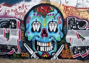 Brilliant Graffiti Skull Mexican Style in Amoreiras Hall o Flickr