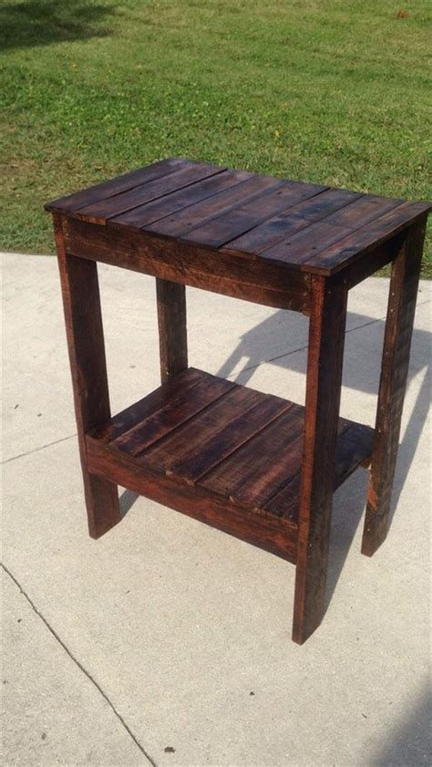 pallet  table entryway table pallet furniture plans
