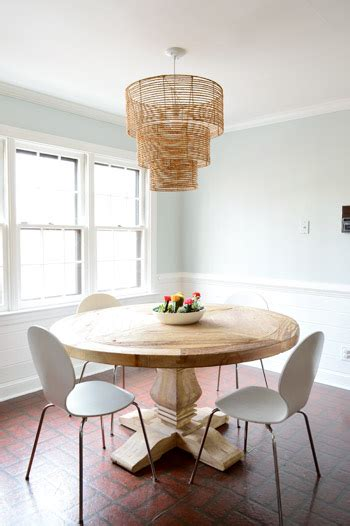 replace fluorescent lighting   pendant fixture young house love