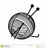 Yarn Needles Clipart Wool Vector Knitting Illustration Balls  Ball Format Royalty Eps Cliparts Clip Depositphotos Shutterstock Craft Outline Concept sketch template