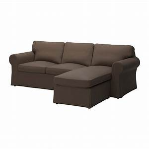 Ikea ektorp loveseat with chaise slipcover 3 seat for Slipcovers for sectional sofa with chaise